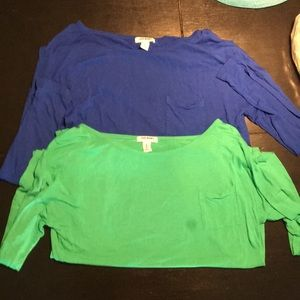 Two long sleeve old navy shirts.